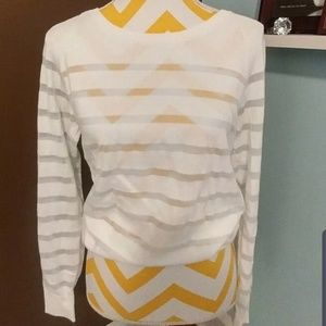Nike Golf White Striped Pullover Size M nwot